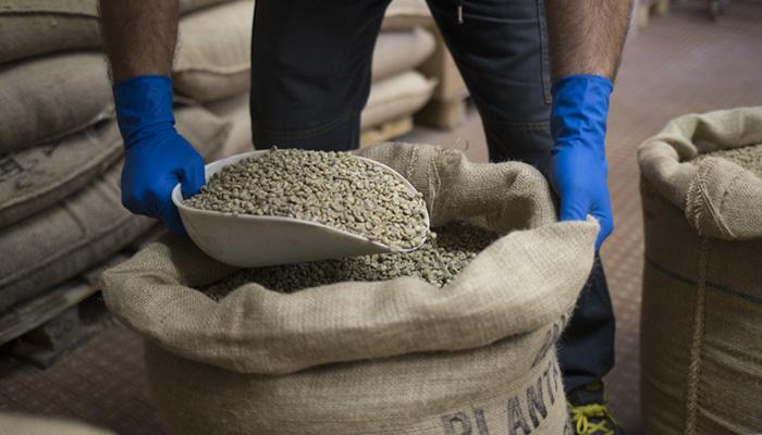 Schaffung der Kaffeemischung